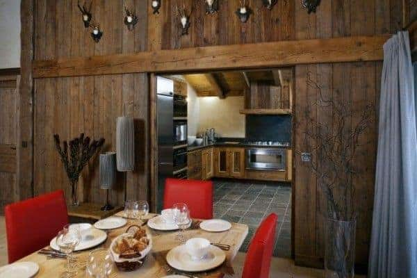 Chalet Glacier: Kitchen and dining room