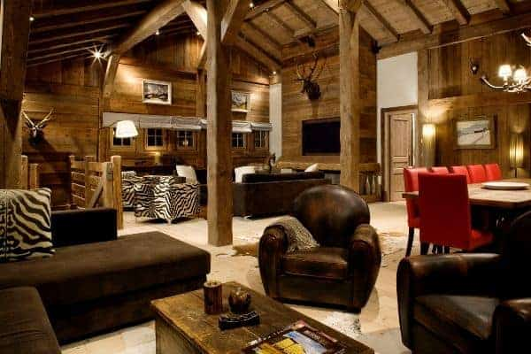 Chalet Glacier: Living room
