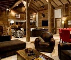 Chalet Glacier: Living room