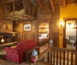 Chalet Olmo: Living area