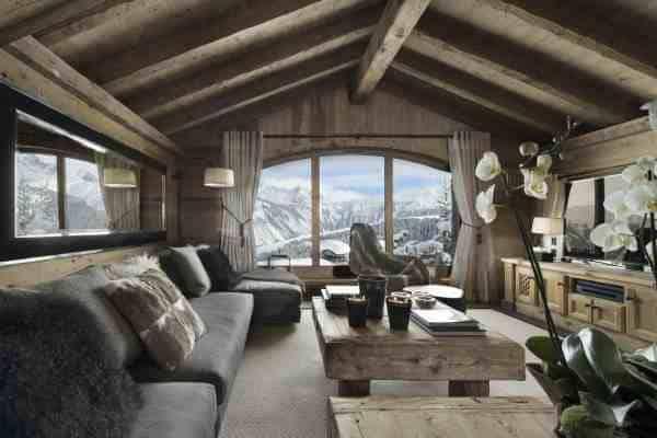 Chalet Emerald: Living area