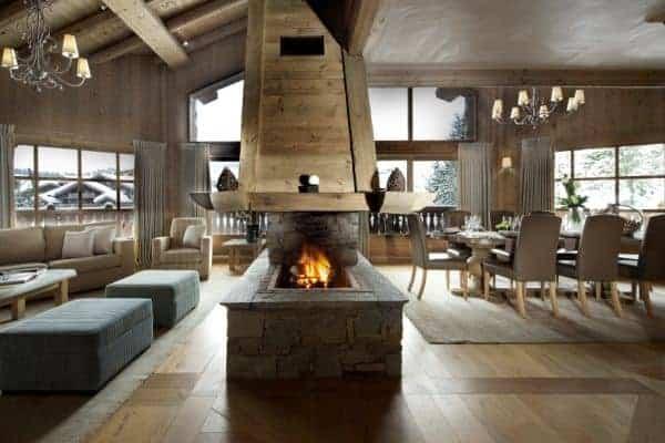 Chalet Montara: Living area