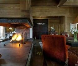 Chalet Valmur: Fireplace