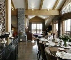 Chalet Valmur: Dining room