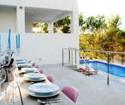 Villa Bliss: Al fresco dining area