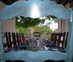 Villa Durga: Al fresco dining area