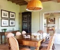 Villa Cornia: Dining room