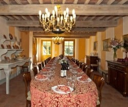 Villa Falasco: Dining room