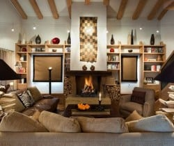 Chalet Amande: Fireplace