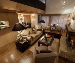 Chalet Amande: Living area