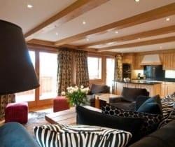 Chalet Etoile: Open plan living area