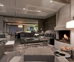 Chalet King: Living area