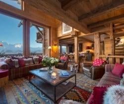 Chalet Nuha: Living area