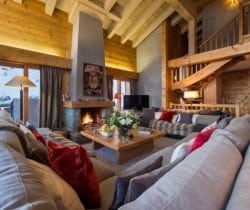 Chalet Tournalon: Living area