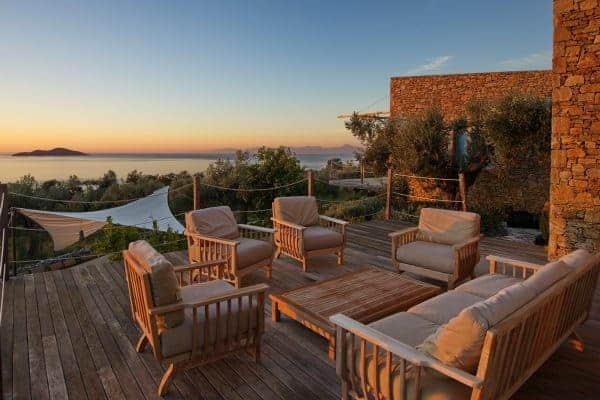 Villa Peristera-Sunset views