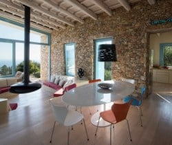 Villa Peristera-Dining area