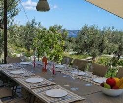 Villa Peristera-Al fresco dining area