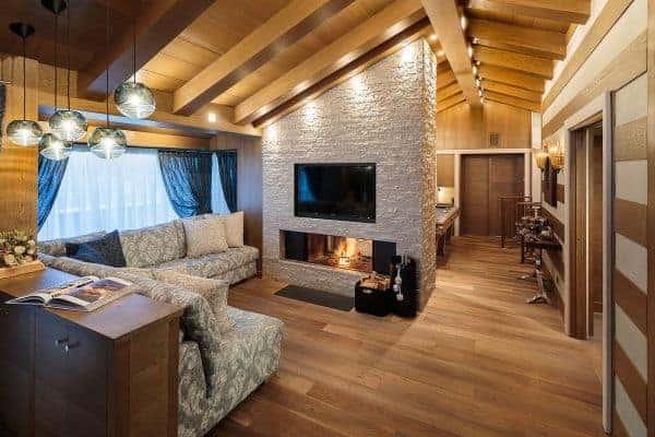 Chalet Castello-Living area