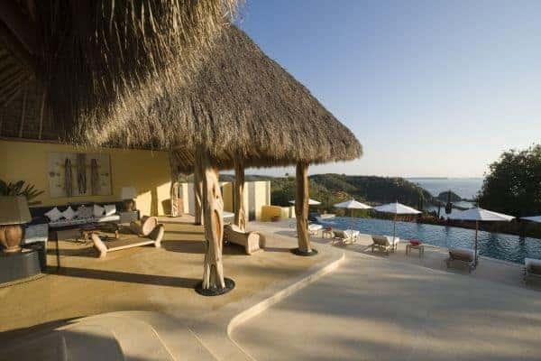 Villa Palapa- Outside view & pool
