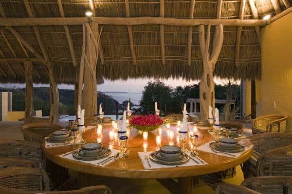 Villa Palapa - Al fresco dining area