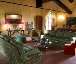 Villa Ombrone: Living room