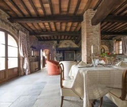 Villa Ombrone: Living room and Dining room