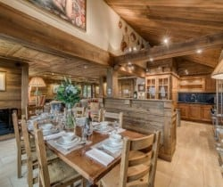 Chalet Chopine: Dining area