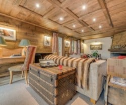 Chalet Chopine: Living area