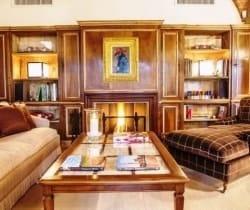 7Villa Bolgheri - Living Room with Fireplace