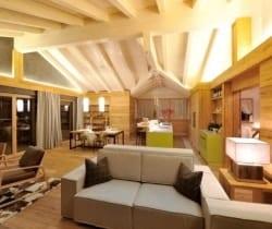 Chalet Croce: Living area