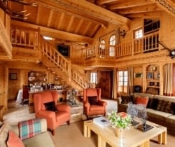 Chalet Olympus-Living area